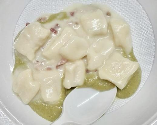 gnocchi crema di piselli e pancetta - anffas onlus Sava
