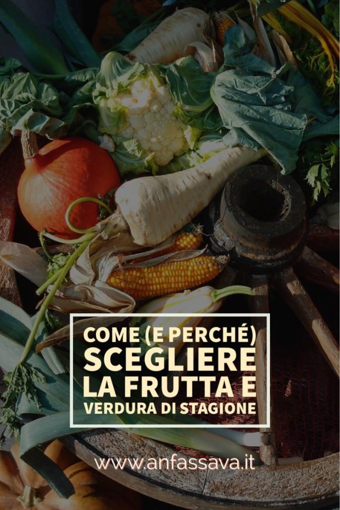 grafica verticale per pinterest e titolo del post: come riconoscere la fruga e verdura di stagione (e ricetta della pasta con le cime di rapa)