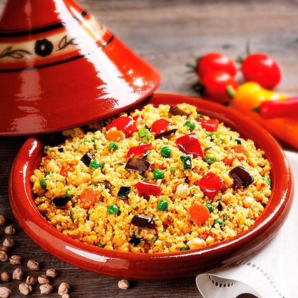 Couscous cibo etnico in italia e ricetta